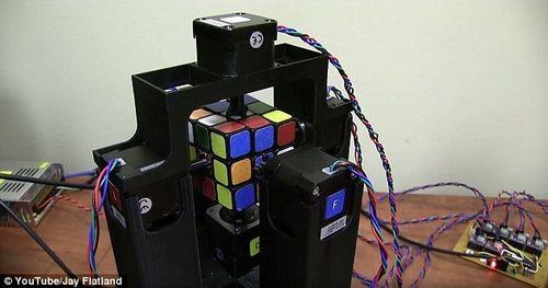 Робот собрал кубик Рубика за 1 секунду.