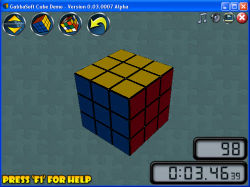 3D симулятор кубика Рубика
